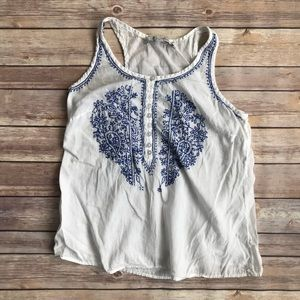 Patrons of Peace Women's Cotton Embroidered Tank